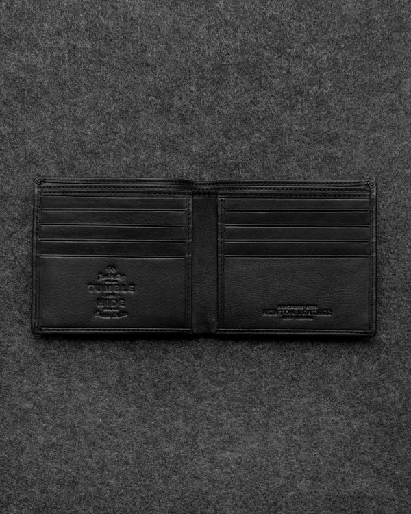 Black Newton Leather East West Basal Wallet a