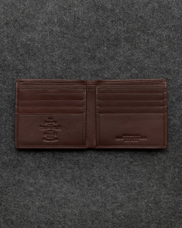 Brown Newton Leather East West Basal Wallet a