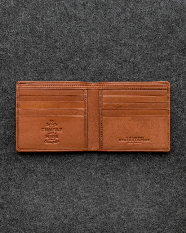 Tan Newton Leather East West Basal Wallet a