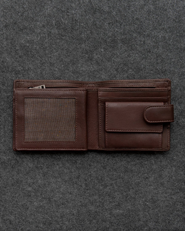 Brown Newton Leather Everyday Wallet a