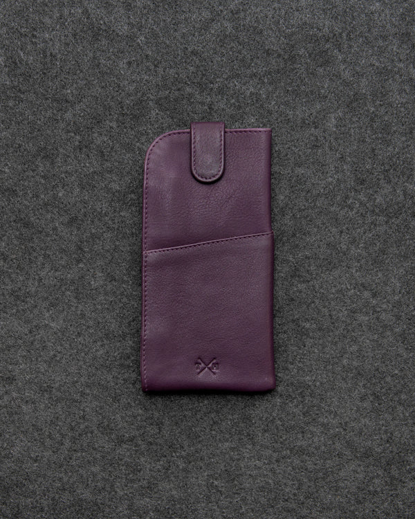 Purple Newton Leather Glasses Case a