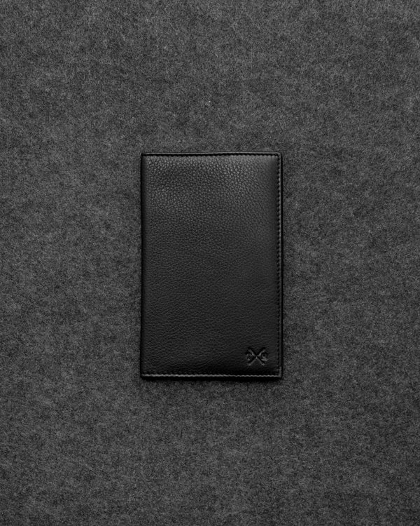 Black Newton Leather Golf Scorecard Holder a