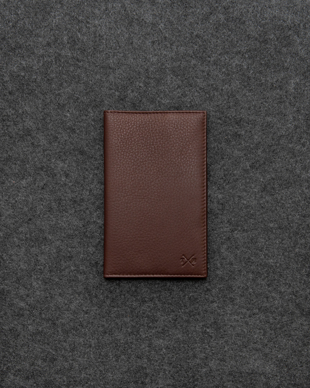 Brown Newton Leather Golf Scorecard Holder a