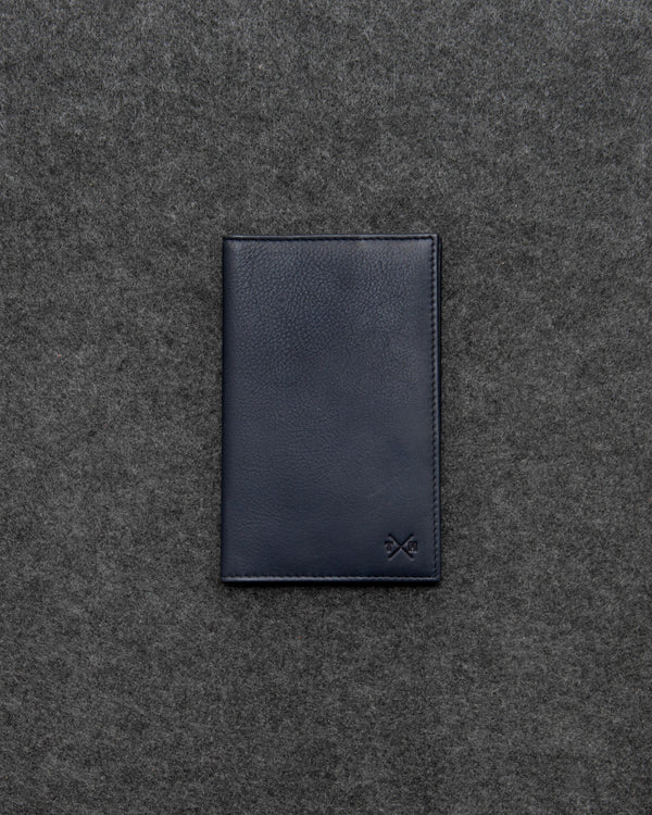 Navy Newton Leather Golf Scorecard Holder a