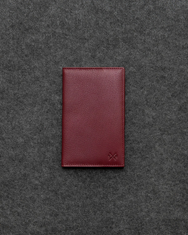 Oxblood Newton Leather Golf Scorecard Holder a