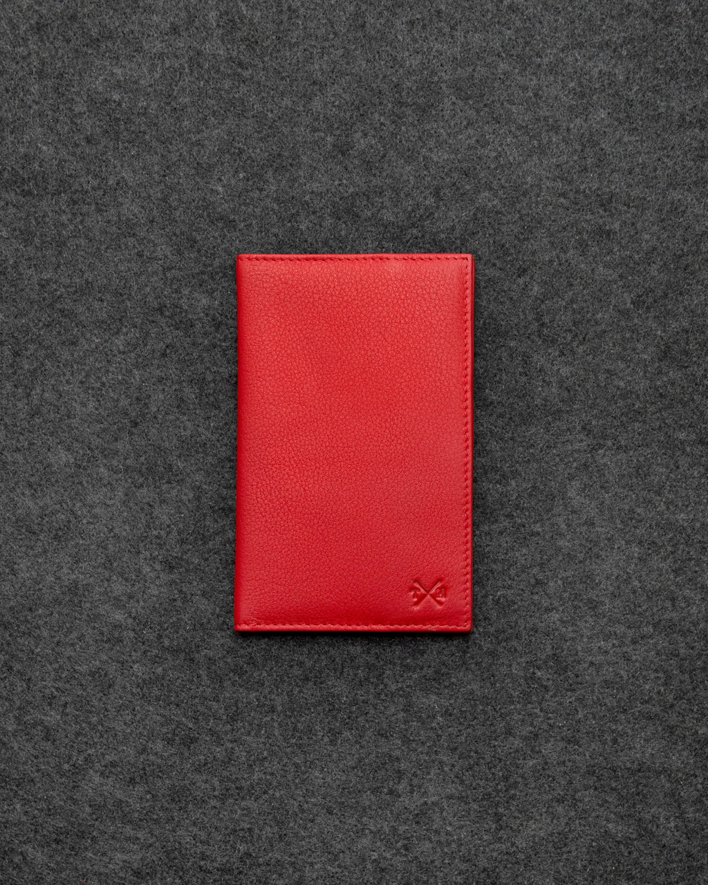 Red Newton Leather Golf Scorecard Holder a
