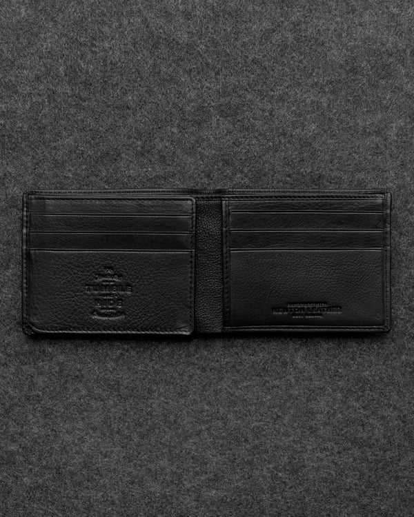 Black Newton Leather Journey Wallet a