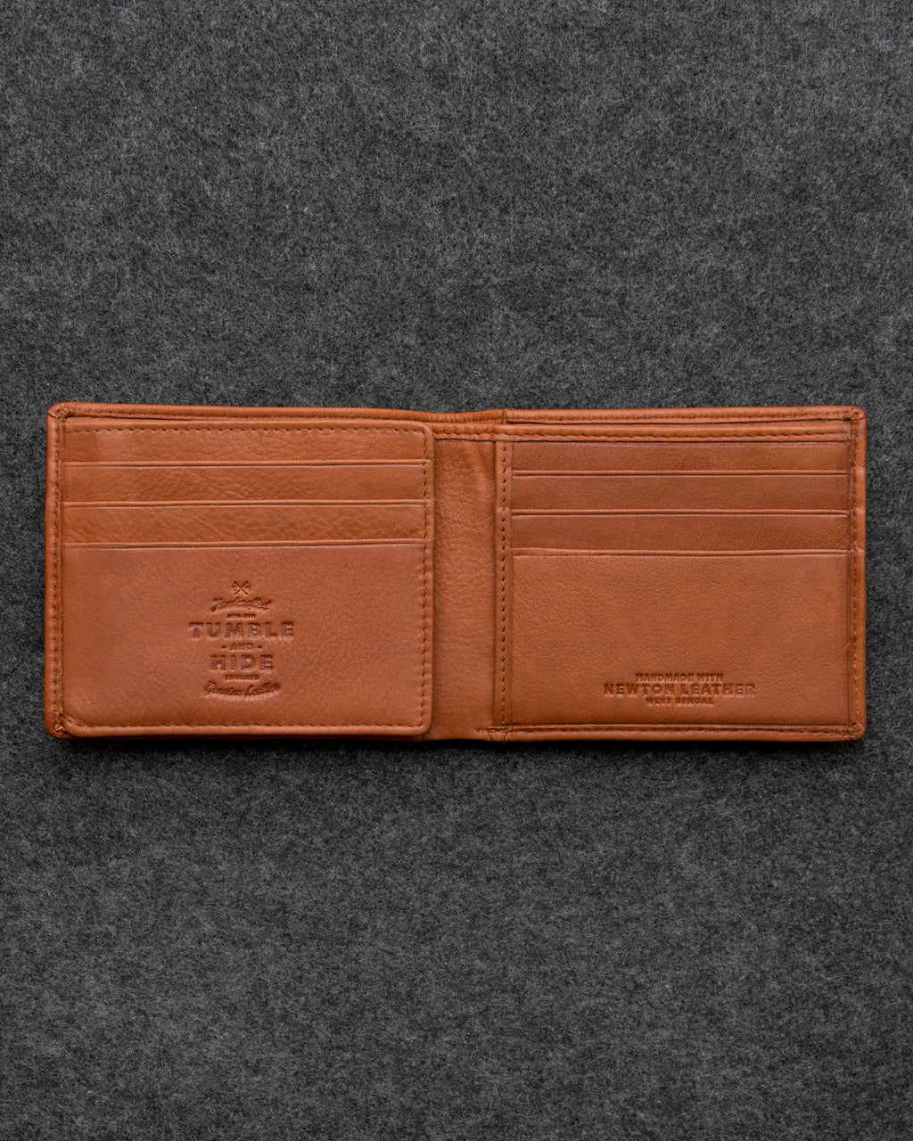 Tan Newton Leather Journey Wallet a