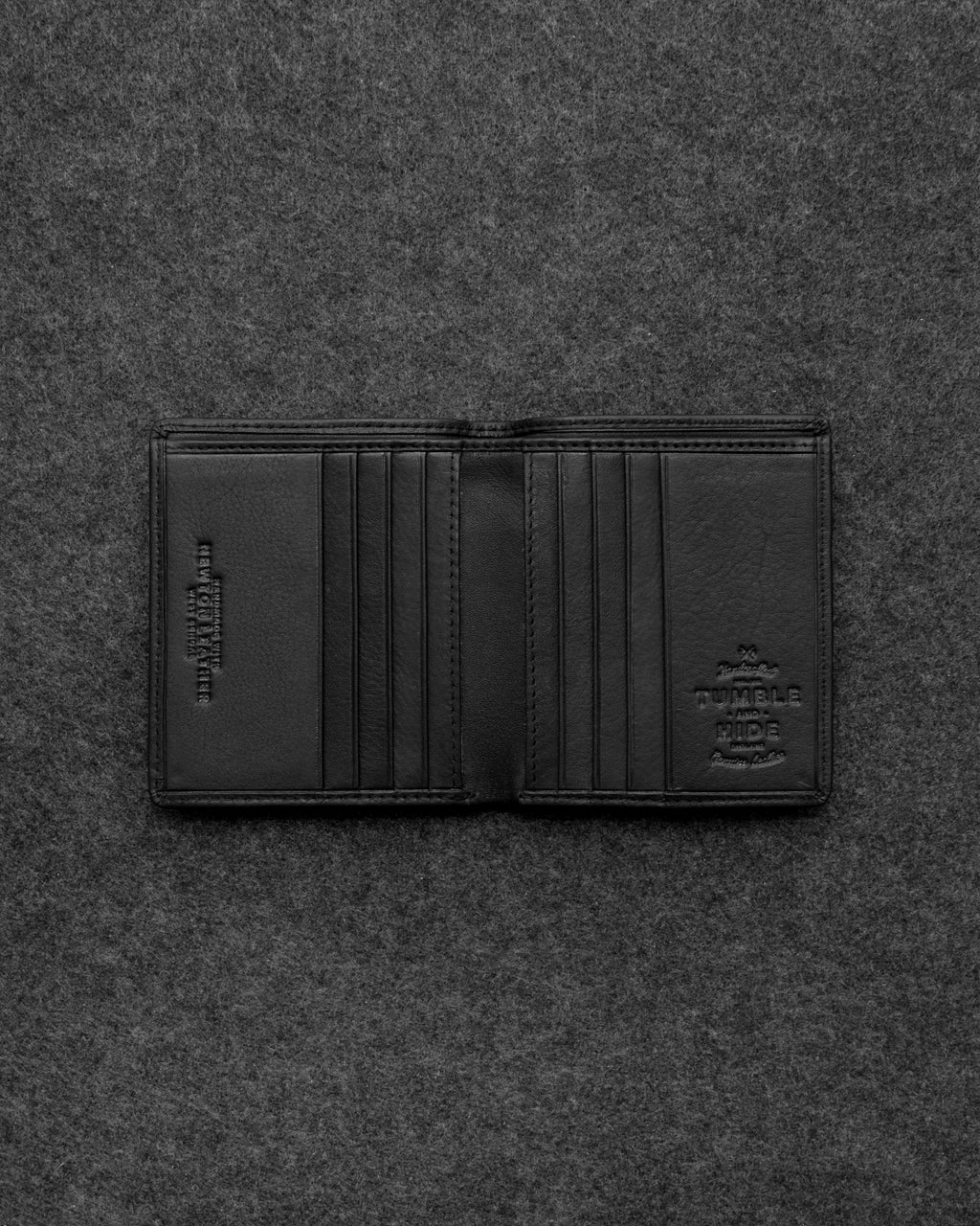 Black Newton Leather North South Basal Wallet a