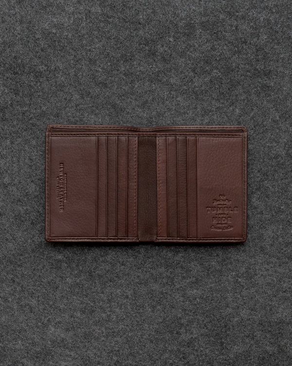 Brown Newton Leather North South Basal Wallet a