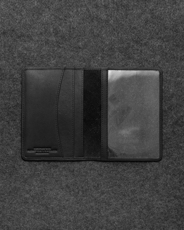 Black Newton Leather Passport Holder a