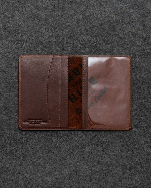 Brown Newton Leather Passport Holder a