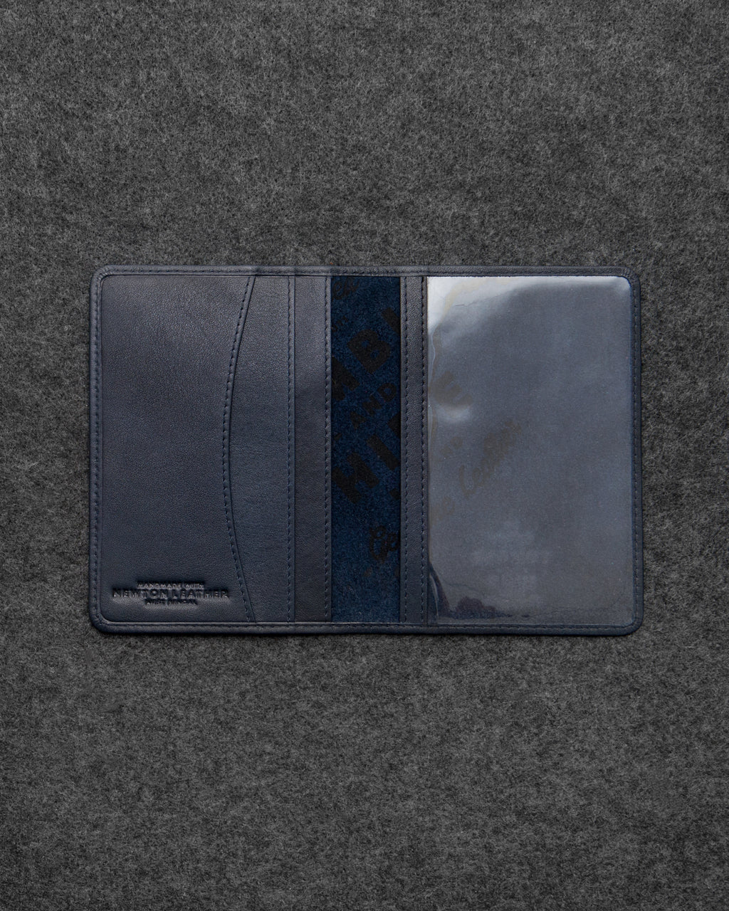 Navy Newton Leather Passport Holder a