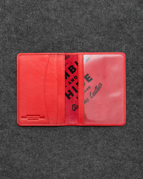 Red Newton Leather Passport Holder a