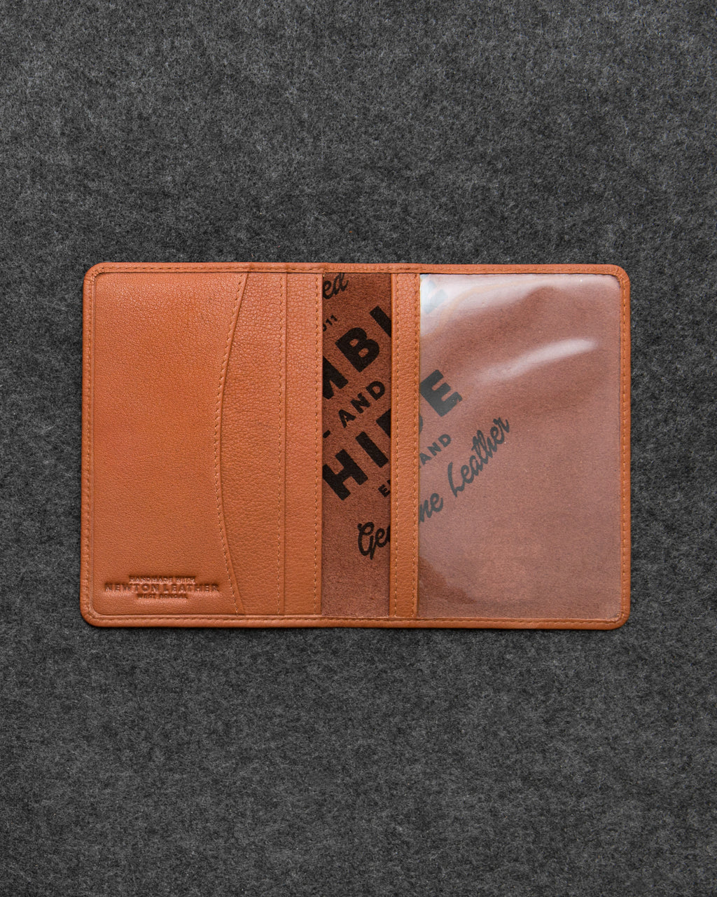 Tan Newton Leather Passport Holder a