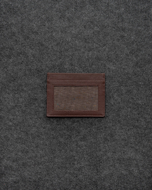 Brown Newton Leather Slim Card Holder a