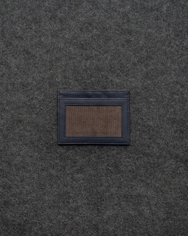 Navy Newton Leather Slim Card Holder a