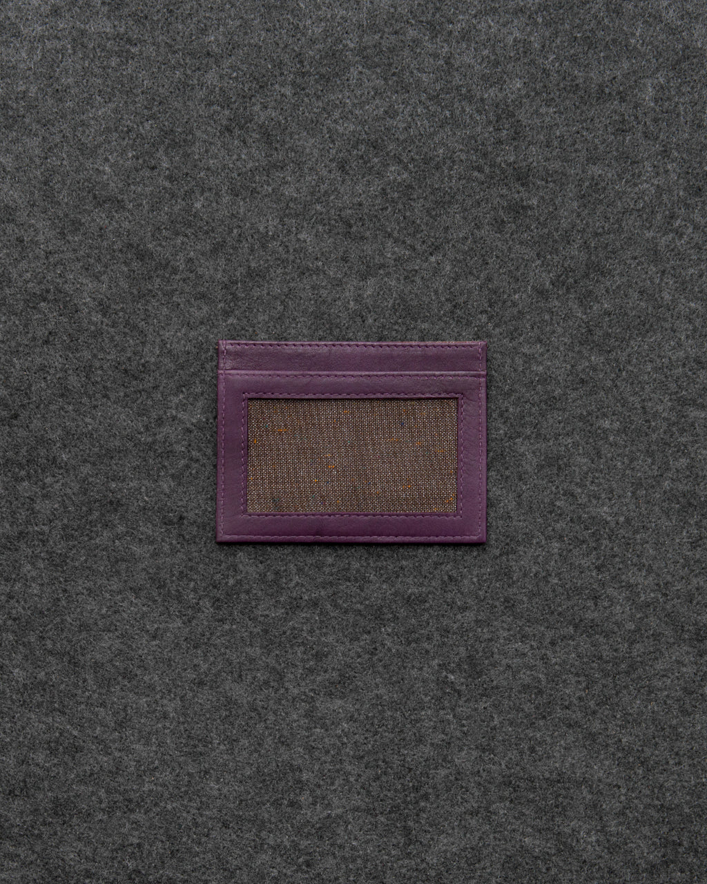 Purple Newton Leather Slim Card Holder a