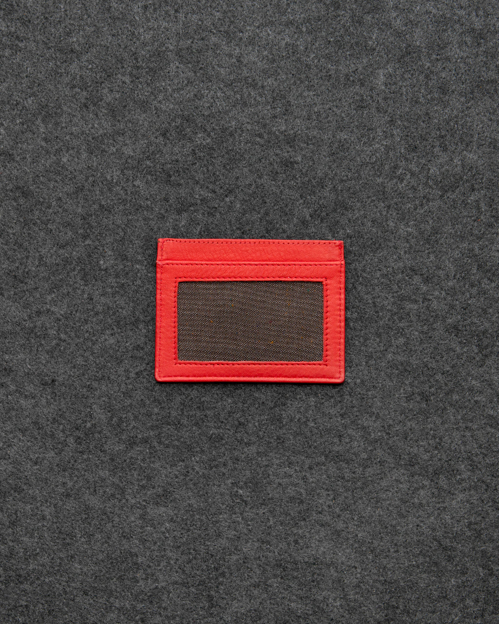 Red Newton Leather Slim Card Holder a