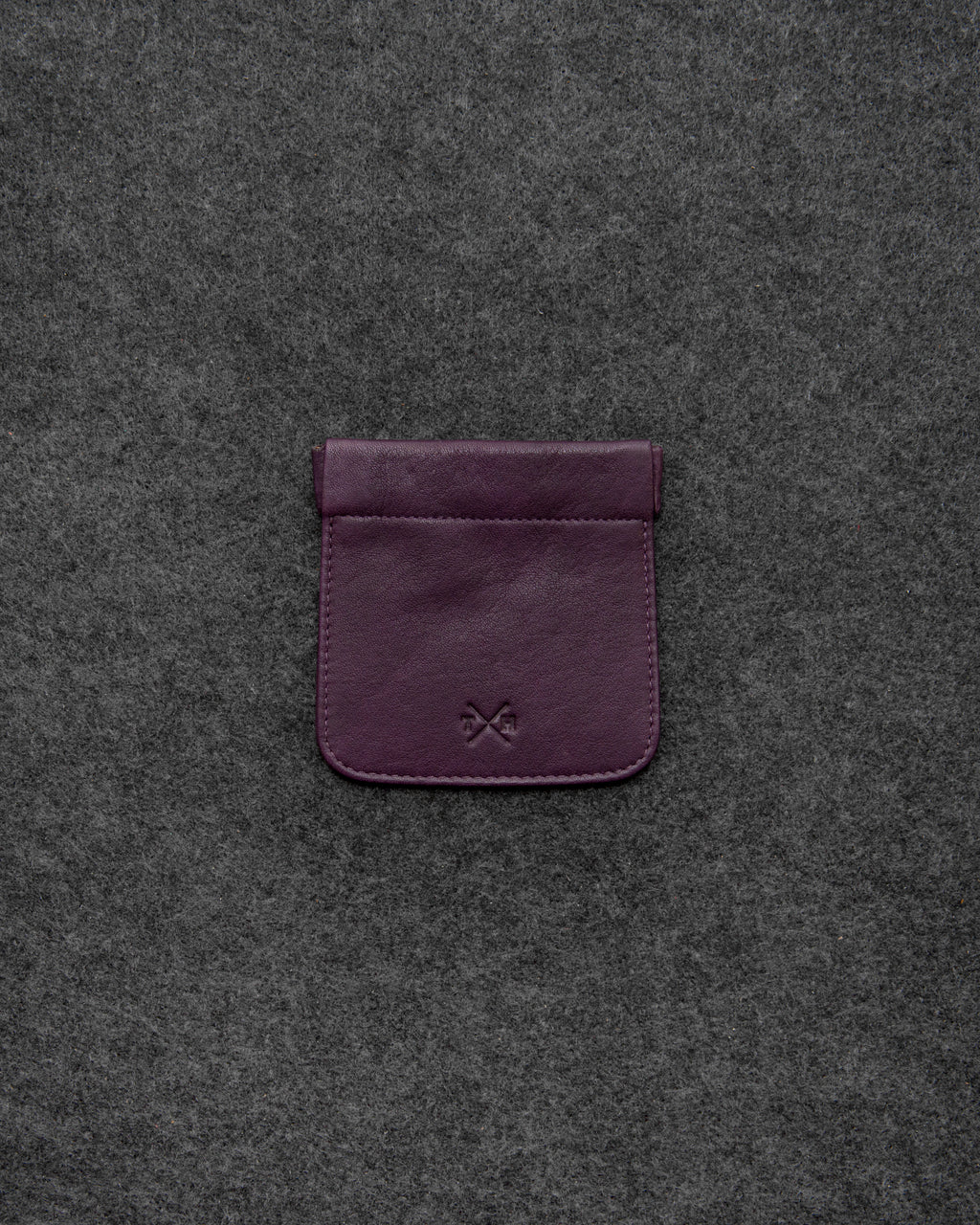 Purple Newton Leather Snap Top Coin Pouch a