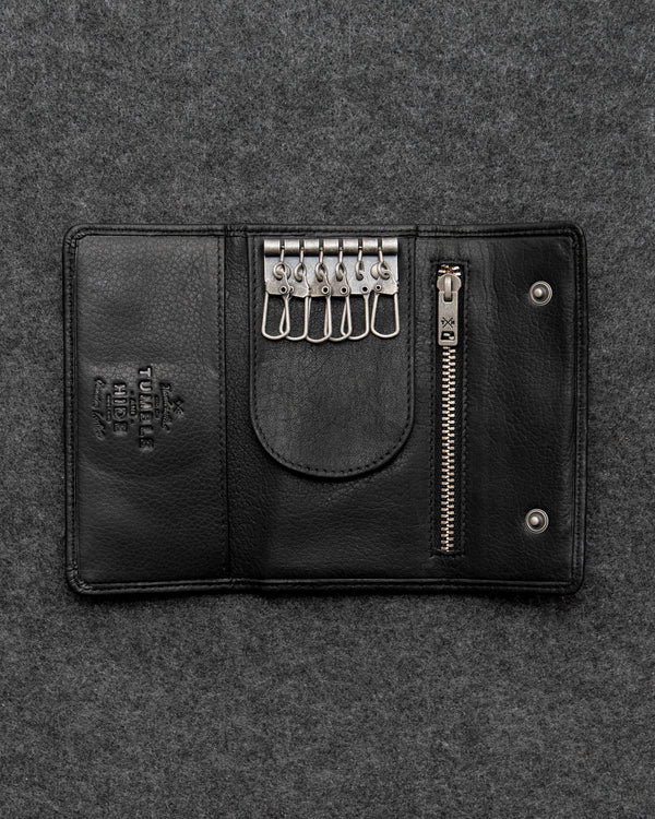 Black Newton Leather Traditional Keycase b