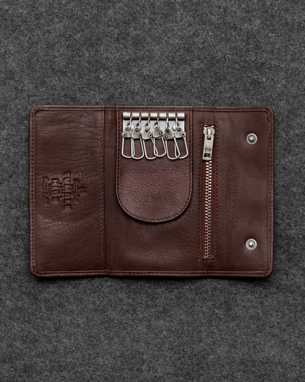 Brown Newton Leather Traditional Keycase b