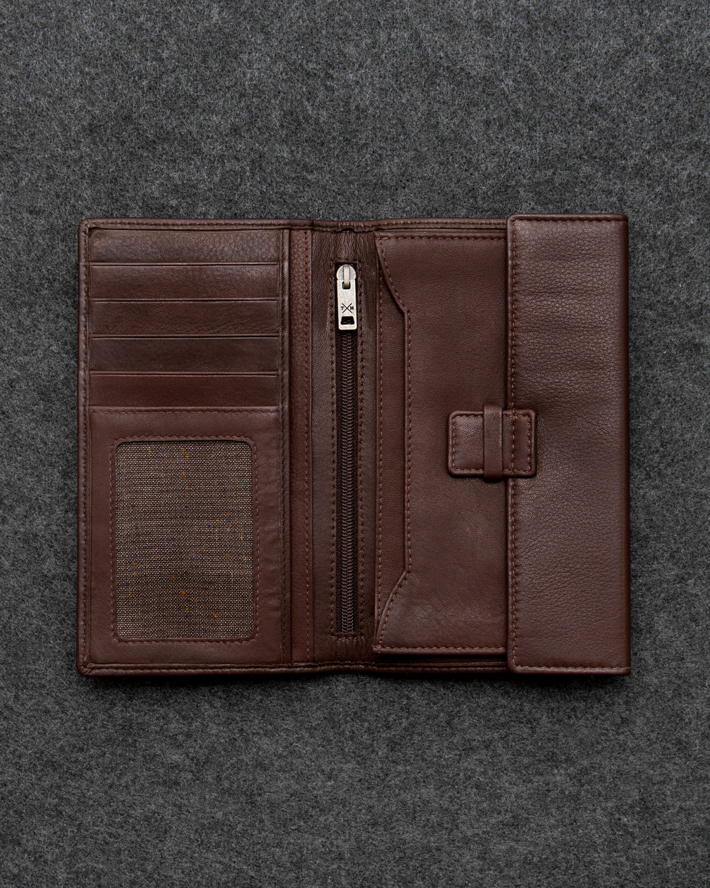 Brown Newton Leather Traditional Wallet a