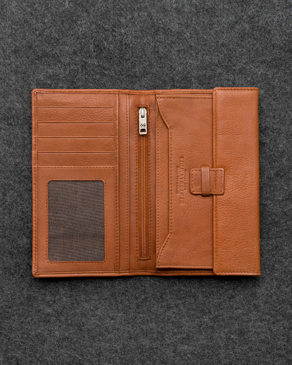 Tan Newton Leather Traditional Wallet a