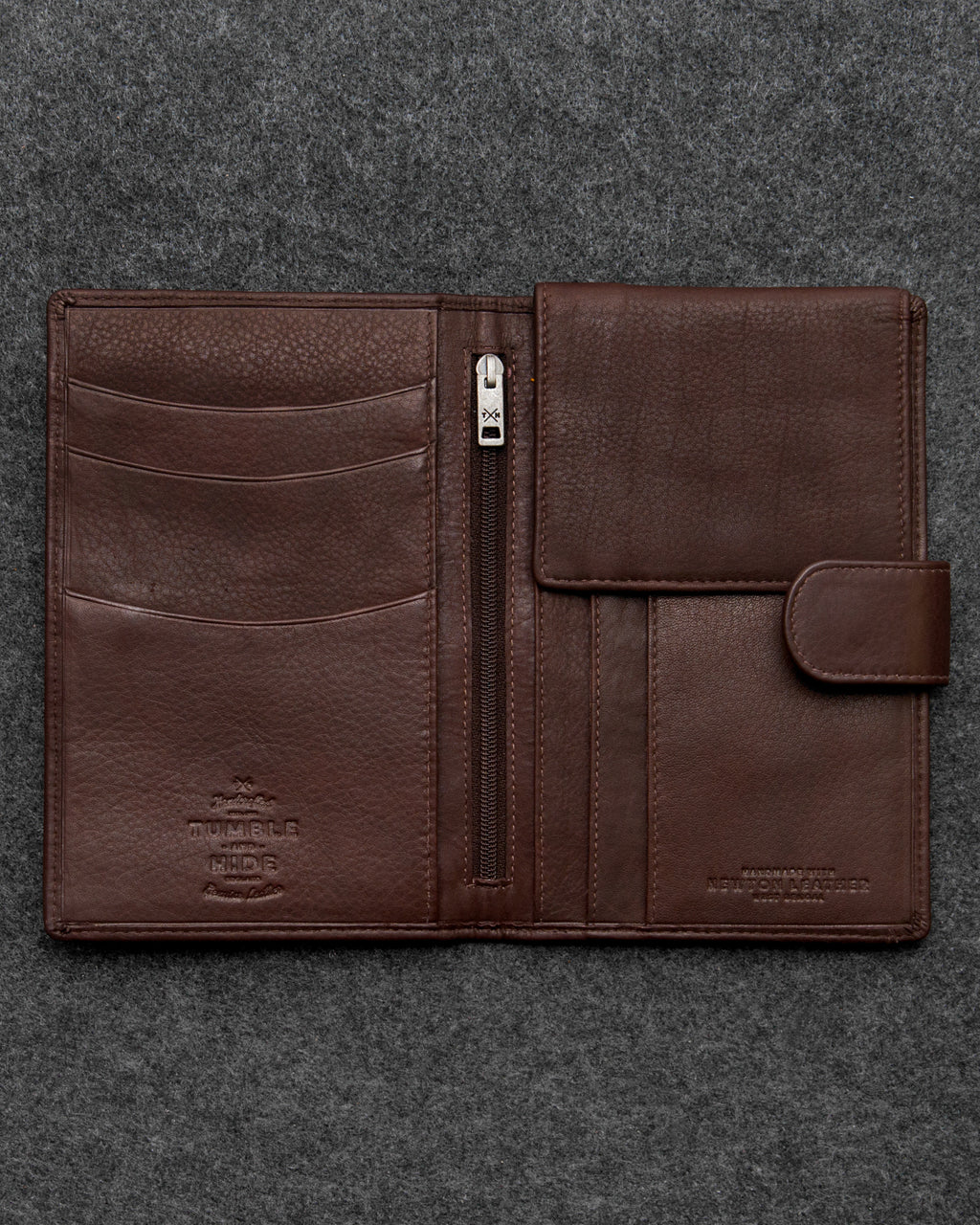 Brown Newton Leather Travel Wallet a