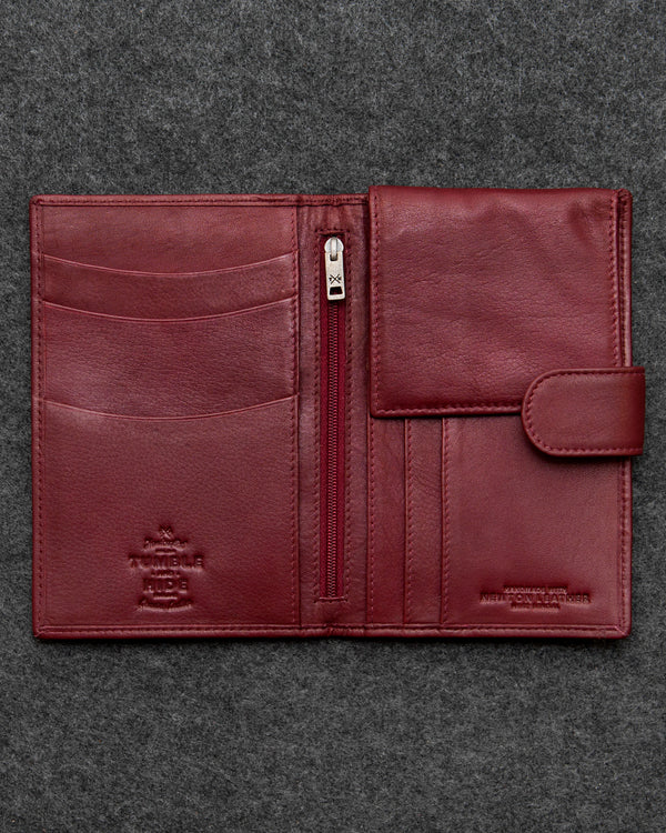 Oxblood Newton Leather Travel Wallet a