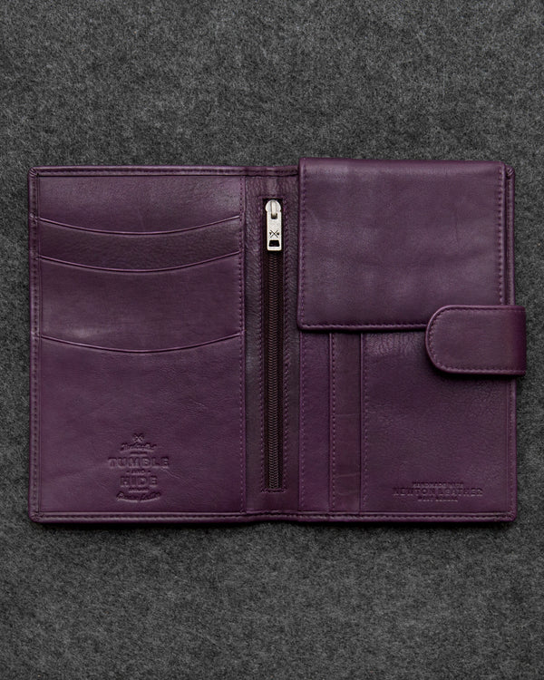 Purple Newton Leather Travel Wallet a