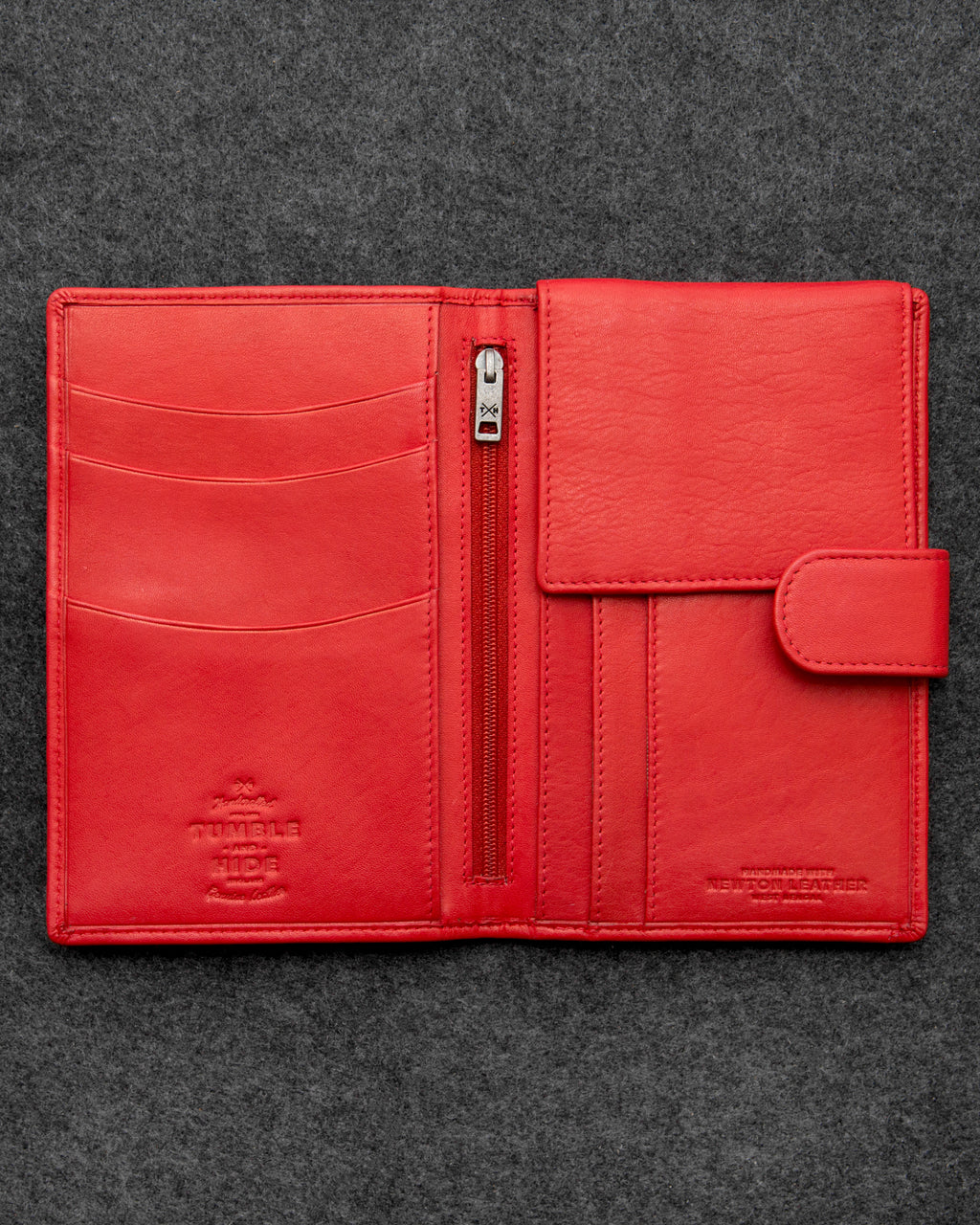 Red Newton Leather Travel Wallet a