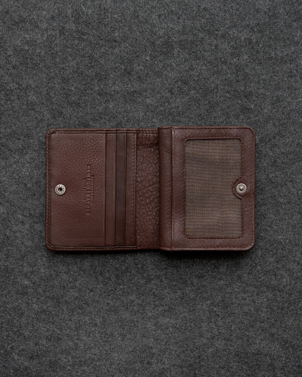 Brown Newton Leather Compact Everyday Wallet a