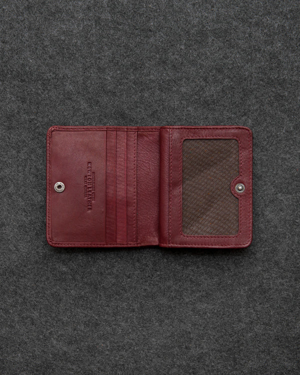Oxblood Newton Leather Compact Everyday Wallet a