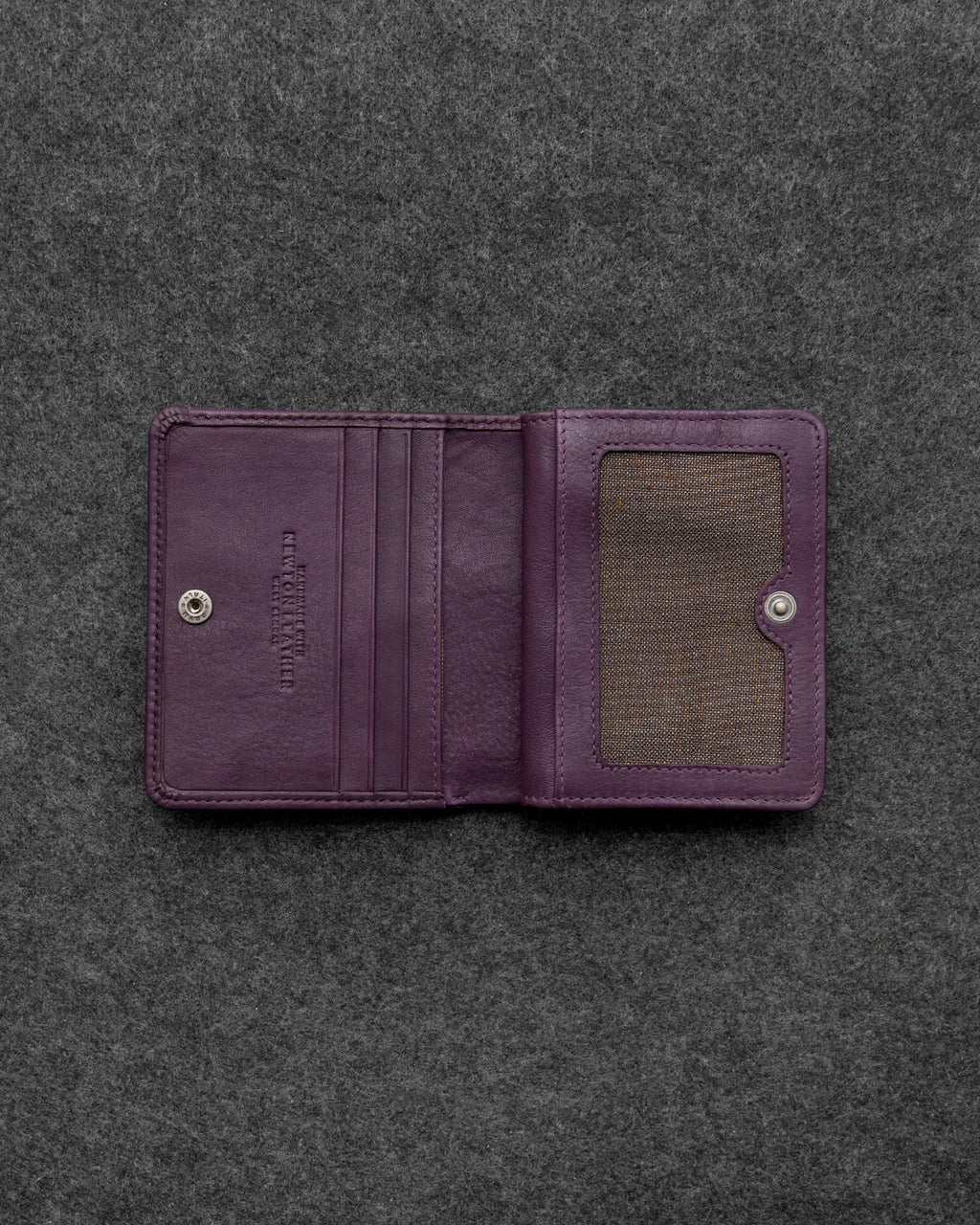 Purple Newton Leather Small Everyday Purse a