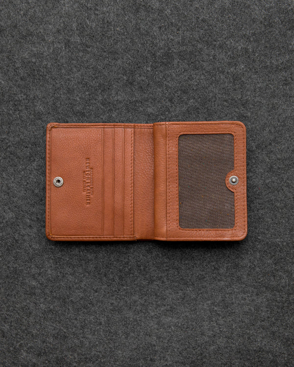 Tan Newton Leather Compact Everyday Wallet a
