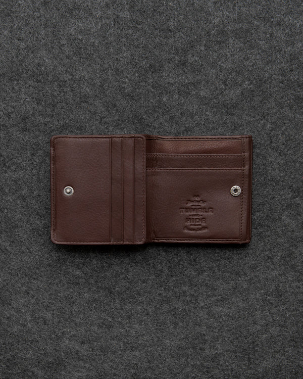 Brown Newton Leather Small Wallet Purse a