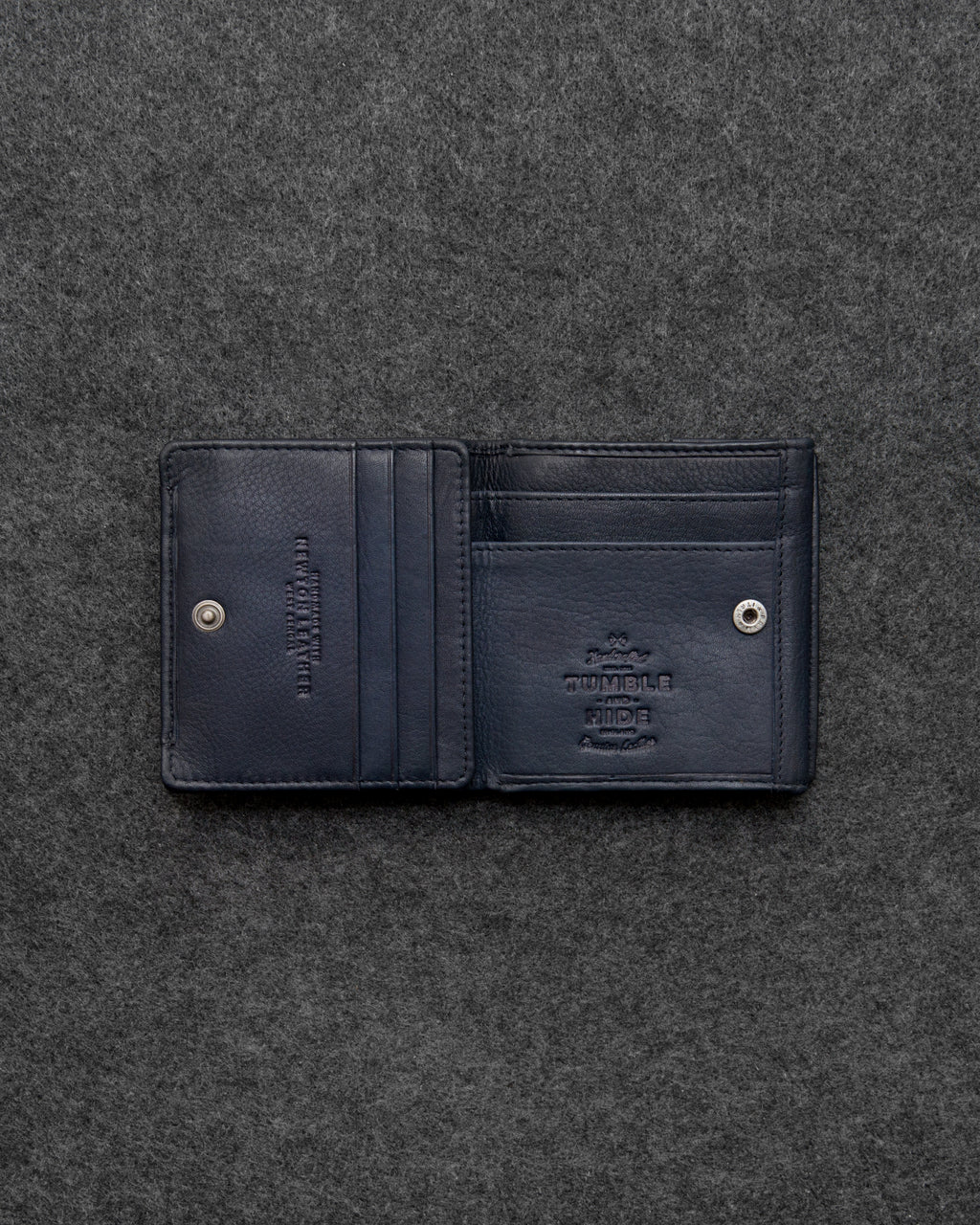 Navy Newton Leather Small Wallet Purse a