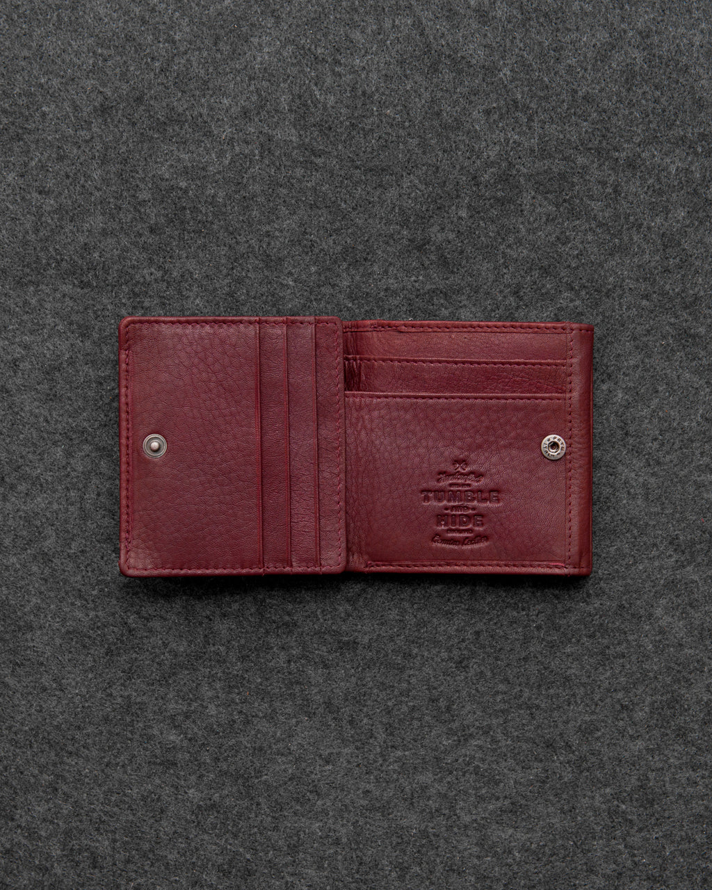 Oxblood Newton Leather Tray Purse Wallet a