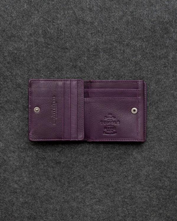 Purple Newton Leather Small Wallet Purse a