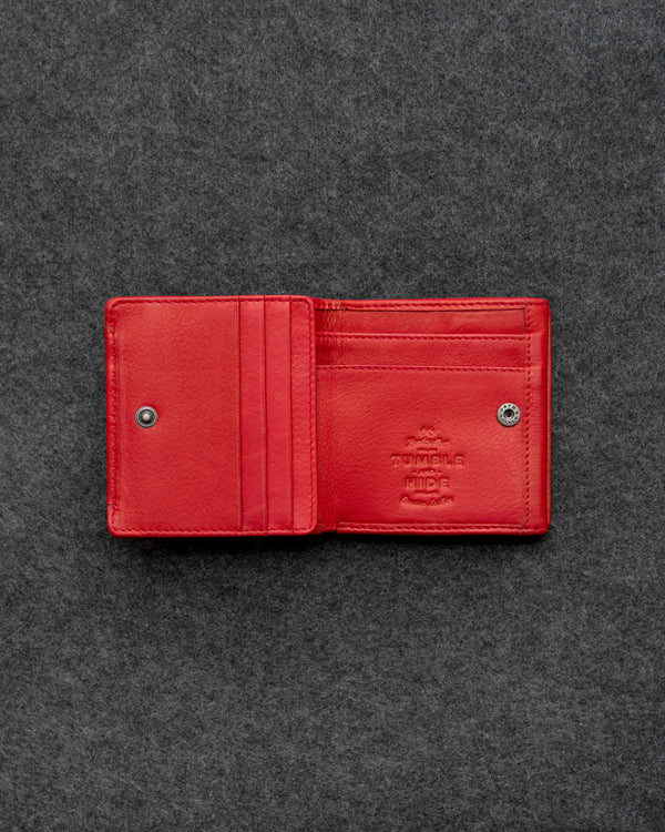 Red Newton Leather Small Wallet Purse a