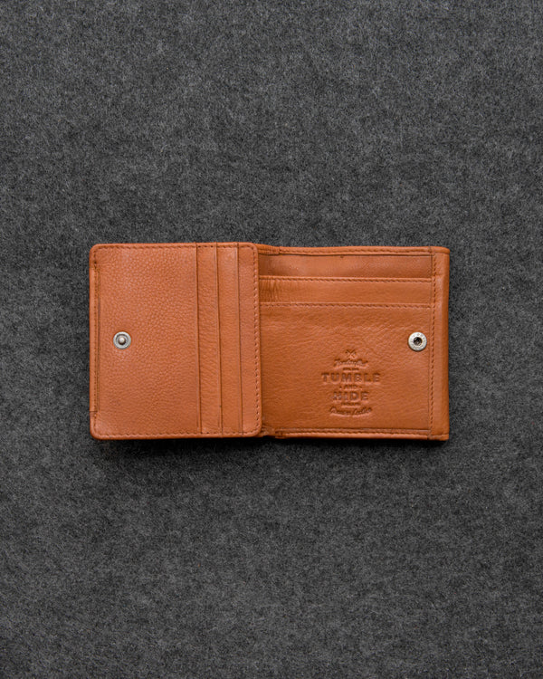 Tan Newton Leather Small Wallet Purse a