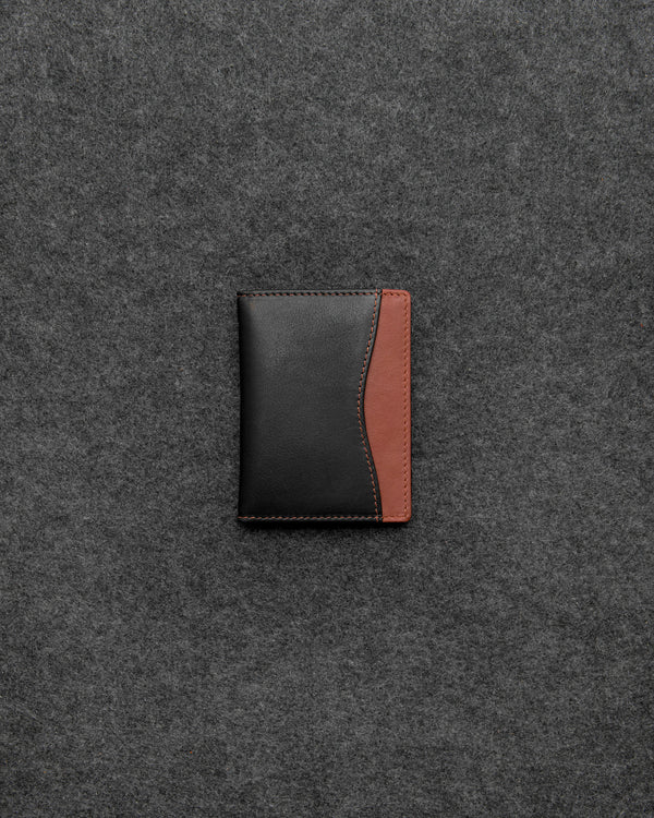 Black And Tan Newton Leather Travel Card Holder a