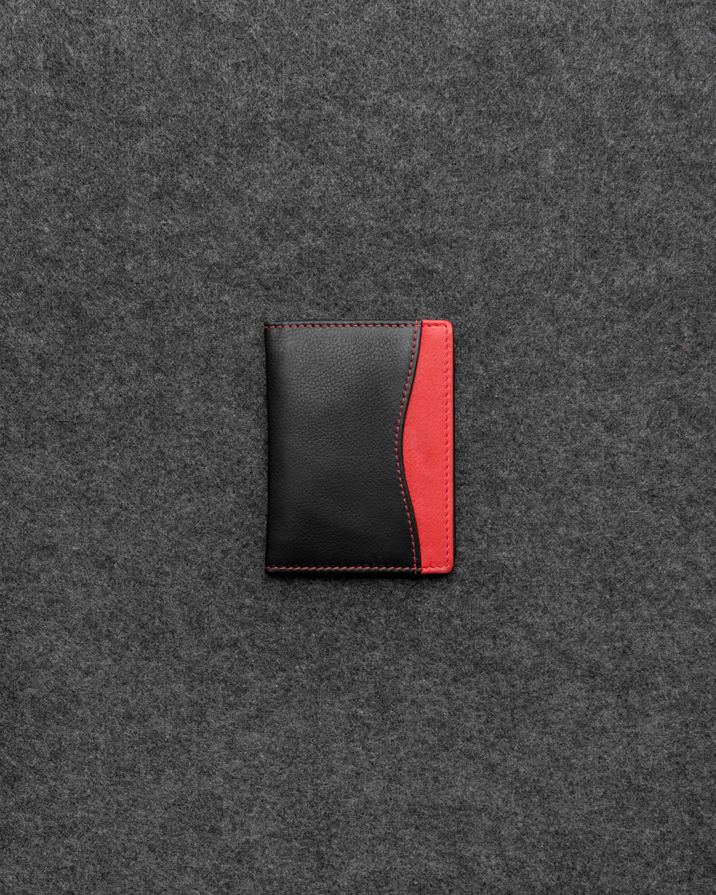 Black And Red Newton Leather Travel Card Holder a