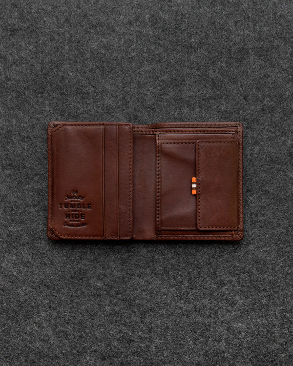 Brown Tudor Leather Abridged Wallet a