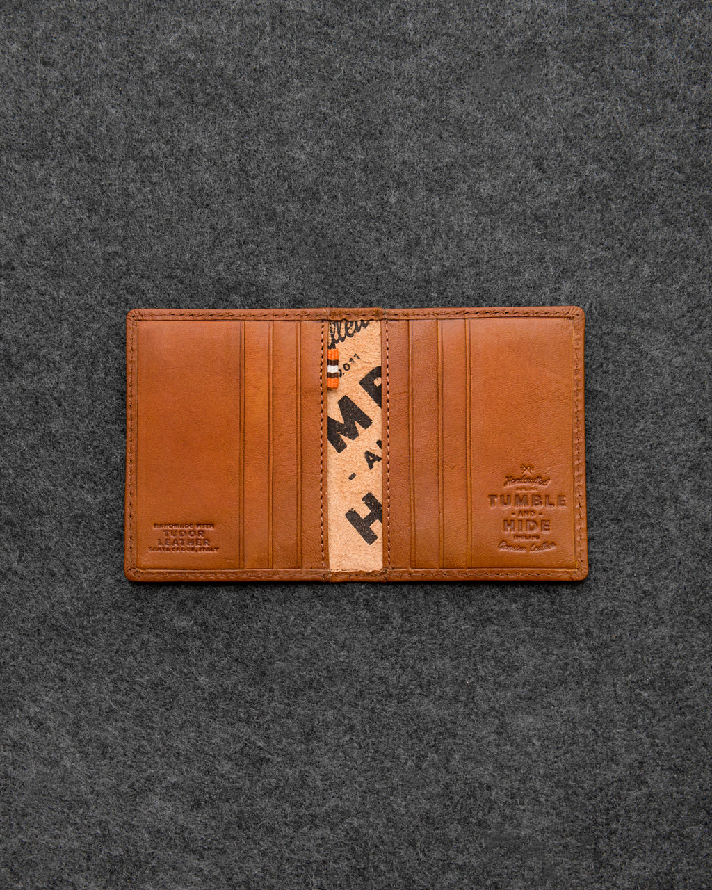 Tan Tudor Leather Basal Card Holder a