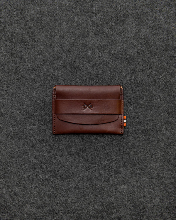 Brown Tudor Leather Card Pouch b