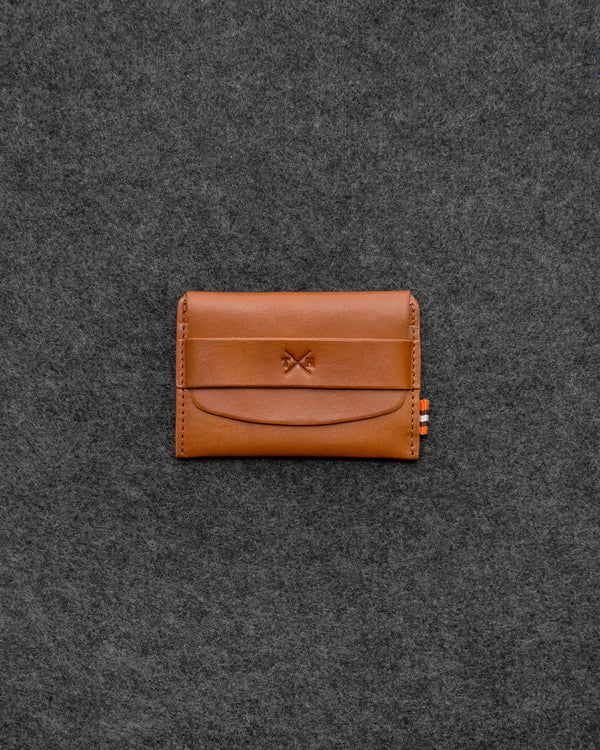 Tan Tudor Leather Card Pouch a
