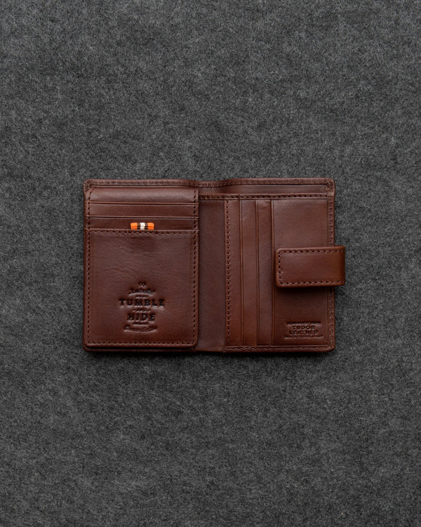 Brown Tudor Leather Card Holder Wallet a