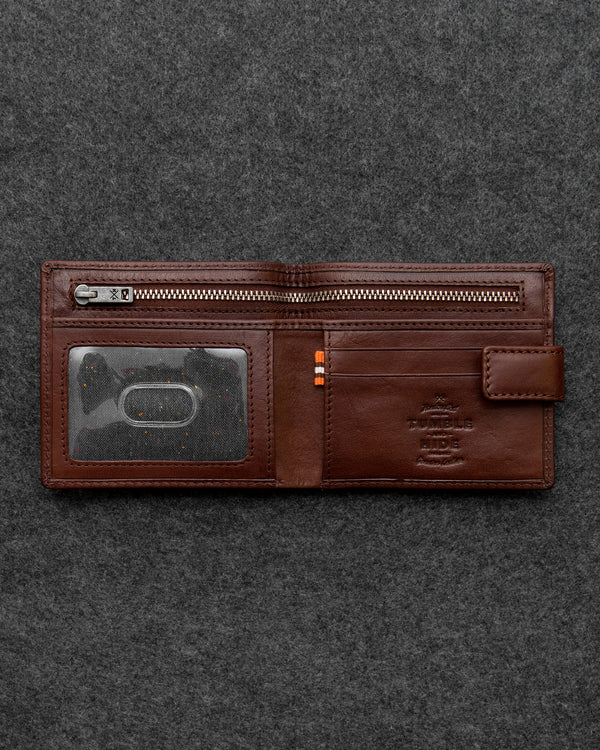 Brown Tudor Leather Classic Wallet a
